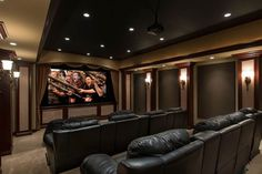 Your quests will be blown away by the spectacular home theater with its state of the art sound system, full theater seating for up to 10 guests and the gigantic eleven foot movie screen. Entertaining is a breeze with your own personal sports bar complete with an authentic bar area, wall mounted TV's and plenty of room to house all of your favorite sports memorabilia.