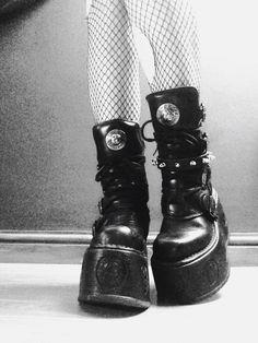 My New Rock platform boots