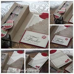 Stampin up - Teelichtkarte - Grüße zum Fest - Winterzauber - Make a Mitten - Jolly Bingo Bits Collage