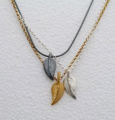 Sara Buk is showing at the Makers Fair - leaf necklaces pictured in silver, gold plate and oxidised silver.  Saltaire Arts Trail 28th-30th May 2016