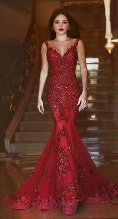 Afbeeldingsresultaat voor red mermaid dress