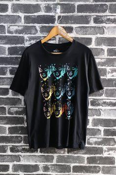 a87cebdadee1 Vintage Andy Warhol Marilyn Diptych reproduce 1962 Silkscreen by American  Pop Artist Inspire death Marilyn Monroe T shirt black Size L