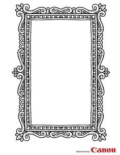 Frame 3 - Free Printable Coloring Pages. this link has 5 different frames to choose from! Colouring Pages, Adult Coloring Pages, Coloring Books, Silhouette Cameo, Free Printable Coloring Pages, Free Printables, Easter Printables, Frame Template, Templates