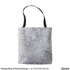 Vintage Map of Central Europe Travel Gift Tote Bag by Those Who Wander on @zazzle