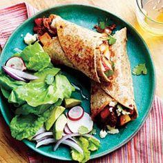 100 Healthy Mexican Recipes: Potato, Chorizo, and Green Chile Burritos | CookingLight.com