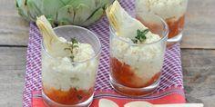 Verrine d'artichaut aux tomates confites