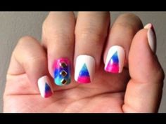 Triangle Ombre Nail Tutorial featuring Color Club Mod in Manhattan