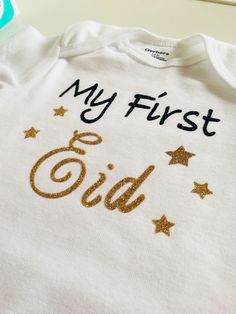 9a2b518ef Excited to share this item from my #etsy shop: My First Eid baby onesies