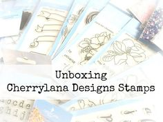 Check Cherrylana Designs Stamps Unboxing Video