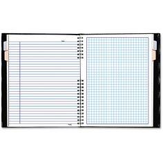 Notepro Quadrille Ruled Notebook, 9 1/4 X 7 1/4, White, 96 Sheets