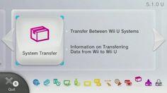 Atualização do Wii U permite transferência de dados entre consoles