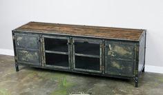 Vintage Industrial Media Console/Credenza. Reclaimed von leecowen