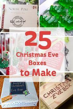 25 Christmas Eve Boxes to Make #xmas #eve #box