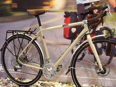 Raleigh Touring bike, with disc brakes, Brooks B.17 saddle