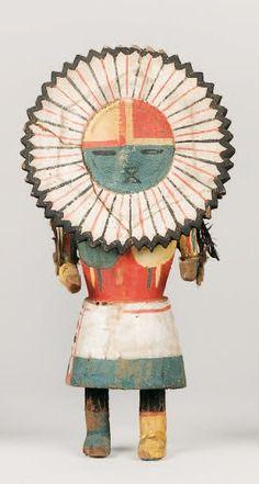 """Kachina TAWA """" kachina soleil """" HOPI , circa 1950 La face de la poupée Native Indian, Native Art, American Indian Art, Native American Indians, Art Chinois, Native American Pictures, Art Premier, Art Japonais, Southwest Art"""