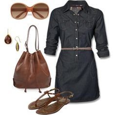 A little denim, created by away-1862 on Polyvore