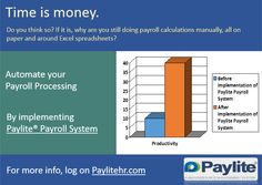 Payroll process automation is for error-free faster actions. Implement www.Paylitehr.com ‪#‎Payroll_System‬ and experience the difference in productivity. ‪#‎HR_Management_Software‬ ‪#‎HR‬ ‪#‎HRMS‬ ‪#‎HRIS‬ ‪#‎GCC‬