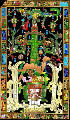 "Mayan Tree of Life ~Mayan king Pakal climbing a Wakah-Chan or ""Tree of Life"". Ancient Myths, Ancient Art, Aliens And Ufos, Ancient Aliens, Mayan Cities, Aztec Art, Mesoamerican, Chicano Art, Ancient Mysteries"