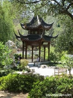 The Chinese garden at The Huntington Gardens.