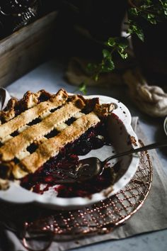 Triple Berry Pie | Photography & Styling by Christiann Koepke of…