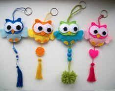 owls keyrings
