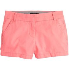 "J.Crew 3"" Chino Short ($27) ❤ liked on Polyvore featuring shorts, bottoms, pants, chino shorts, short shorts, j.crew, j. crew shorts and zipper shorts"