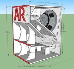 Skema box WD Horn Subwoofer 18 inch   Varanews.com Speaker Box Design, Subwoofer Box Design, Horn Speakers, Diy Speakers, Diy Electronics, Electronics Projects, Speaker Plans, Sound Speaker, Audio System
