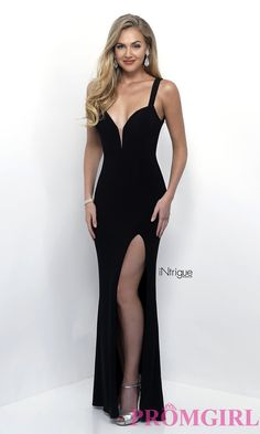 Image of long sweetheart open-back jersey prom dress. Detail Image 2