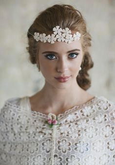 Floral+bridal+crowns | How did I just discover Ruche's vintage-y wedding dresses under $300!?