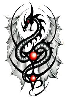 Tribal Dragon Tattoos | Return to Tattoo Show Time Homepage
