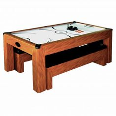 Travel-size Mini Air-powered Lightweight Plug-in Tabletop Air Hockey Table