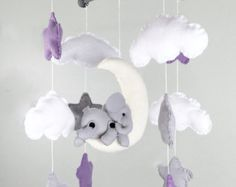 SALE Baby Mobile with Pony and Elephant от BerryBerriesCrafts