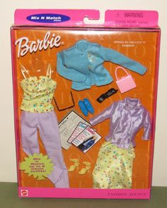 2000 Barbie Fashion Avenue Spring in the City Mix n Match Outfit 27850 NRFB - cell phone magazine | eBay