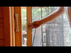 How to Install a Pella Sliding Patio Door Screen Sliding Patio Screen Door, Best Sliding Glass Doors, Exterior Sliding Glass Doors, Screen Door Handles, Hinged Patio Doors, Screen Door Latch, Modern Patio Doors, French Doors Patio, Front Door Paint Colors