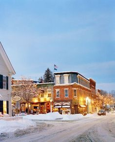 Woodstock, VT, is the ultimate winter wonderland. Le Vermont, Vermont Winter, Burlington Vermont, New England States, New England Travel, Oh The Places You'll Go, Places To Travel, Winter Weekend Getaways, Woodstock Vermont