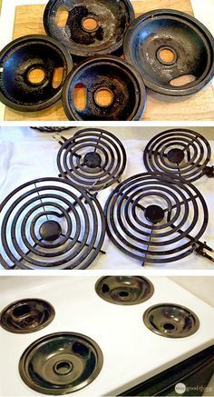 It's about time I clean my burner pans again! I just love this method, I hardly have to scrub at all :-)