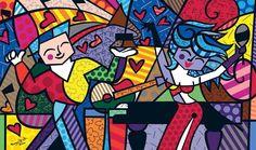 Resultado de imagen para obras de romero britto imagens para colorir