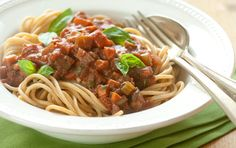 The flavor of this hearty sauce is as equally tasty over gluten free pasta or spaghetti squash as it is over pasta. The sauce freezes well for quick weeknight meals.