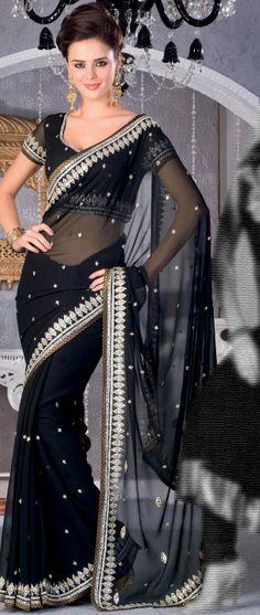 #Black #Saree