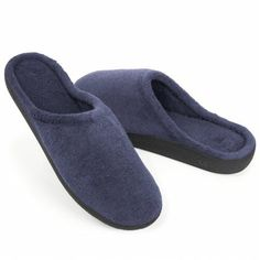 Women's Isotoner Micro Terry Clog Slippers - Navy ~ Details ->> http://amzn.to/Mfxd2y