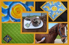 Saddlepad batik art just for you. Ride well and Be Noticed! LaughingMare.com