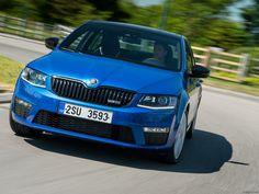 The sporty vRS version of Skoda's new Octavia hatch and estate ticks all the right boxes. Car Posters, Poster Poster, Product Launch, Sporty, Blue, Mousepad, Wallpaper, Google, Wallpaper Desktop