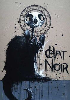 Chat Noir, skeletal.