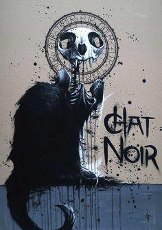 Chat Noir, skeletal. (good take on the original)