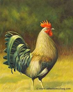 Rooster watercolor paintings are often packed with an array of vibrant colors. Rooster Painting, Rooster Art, Chicken Painting, Chicken Art, Watercolor Animals, Watercolor Paintings, Farm Animals, Animals And Pets, Chicken Pictures