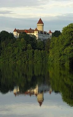 """allthingseurope: """"Konopiště Castle, Czech Republic (by Rianetna) """" Prague Czech Republic, Historical Monuments, Beautiful Castles, Medieval Castle, Central Europe, France Travel, Places To See, Culture, Around The Worlds"""