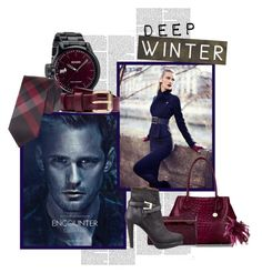 """Deep Winter"" by spicemarket ❤ liked on Polyvore featuring Nixon, Calvin Klein, Acne Studios, La Femme, Brahmin, Jimmy Choo, Coast, Burberry, Giorgio Armani and Noble House"