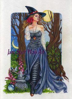 """Summer Solstice:  """"#Summer #Solstice Witch,"""" by Jane Starr Weils."""