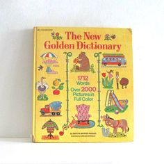 Vintage Childrens Book New Golden Dictionary Pictionary.