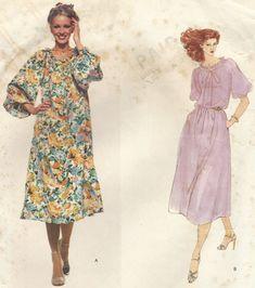 Emanuel Ungaro Womens Boho Peasant Style Dress by CloesCloset Vintage Vogue, Retro Vintage, Vogue Sewing Patterns, Clothes Pictures, Vogue Paris, Vintage Patterns, Pattern Design, Plates, Boho